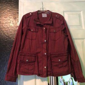 Burgundy army jacket
